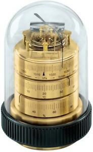Wetterstationen MüHsam Barigo Tisch Wetterstation Doppeldose Analog Barometer Thermohygrometer Messing Kleingeräte Haushalt