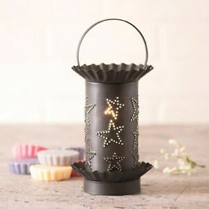 Wax-Tart-Warmer-Country-Stars-Pattern-Electric-Kettle-Black-Irvins-Country