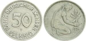 Germany Bank D.Länder 50Pf.F J.379 Lack Coinage Without Year VF(2)