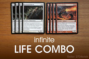 Details about Infinite Life Combo / Nearheath Hellion (Red White Deck)  *English MTG Lot*
