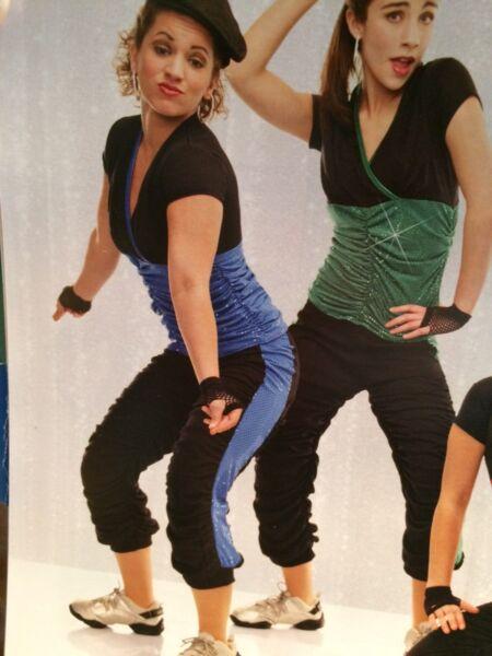100% Verdadero En Stock Real De Dos Piezas Danza Jazz Moderno Calle De Lentejuelas Disfraz Adulto Pequeño-ver