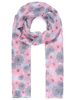 Floral design scarf scarves shawl throw wrap present gift free shopping bag
