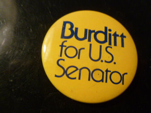George Burditt Illinois Senate Pin Back Political Button Senator 1974 Campaign