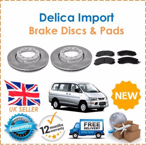 For Mitsubishi Delica Import 2.8TD 1994-2006  Front Brake Discs Set /& Disc Pads