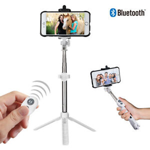 3en1 selfie Palo Monopod extensible portátil trípode inalámbrica Bluetooth+remo