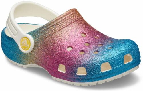 crocs Clog mit Fersenriemen Classic Ombre Glitter Clog Kids Oyster Multi Crosl