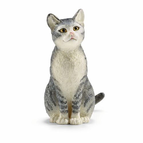 Schleich Farm World chat assis animal figure
