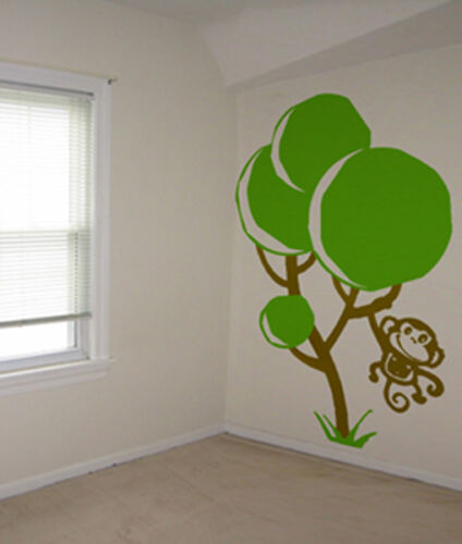 MONKEY IN A TREE CUTE KIDS ROOM WALL ART DECOR DECAL