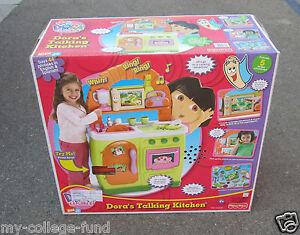 Image Is Loading Fisher Price Dora The Explorer Original Talking Kitchen