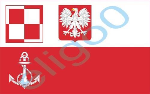 1x STICKER POLISH navy airfields flag decal AVIATION