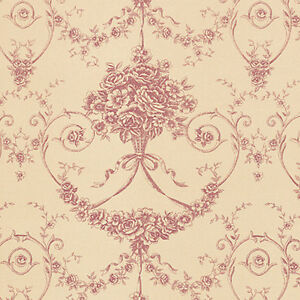 Cotton-100-Satin-weave-Fabric-Bedding-Clothes-Covering-Antique-Damask-Rose-44-w