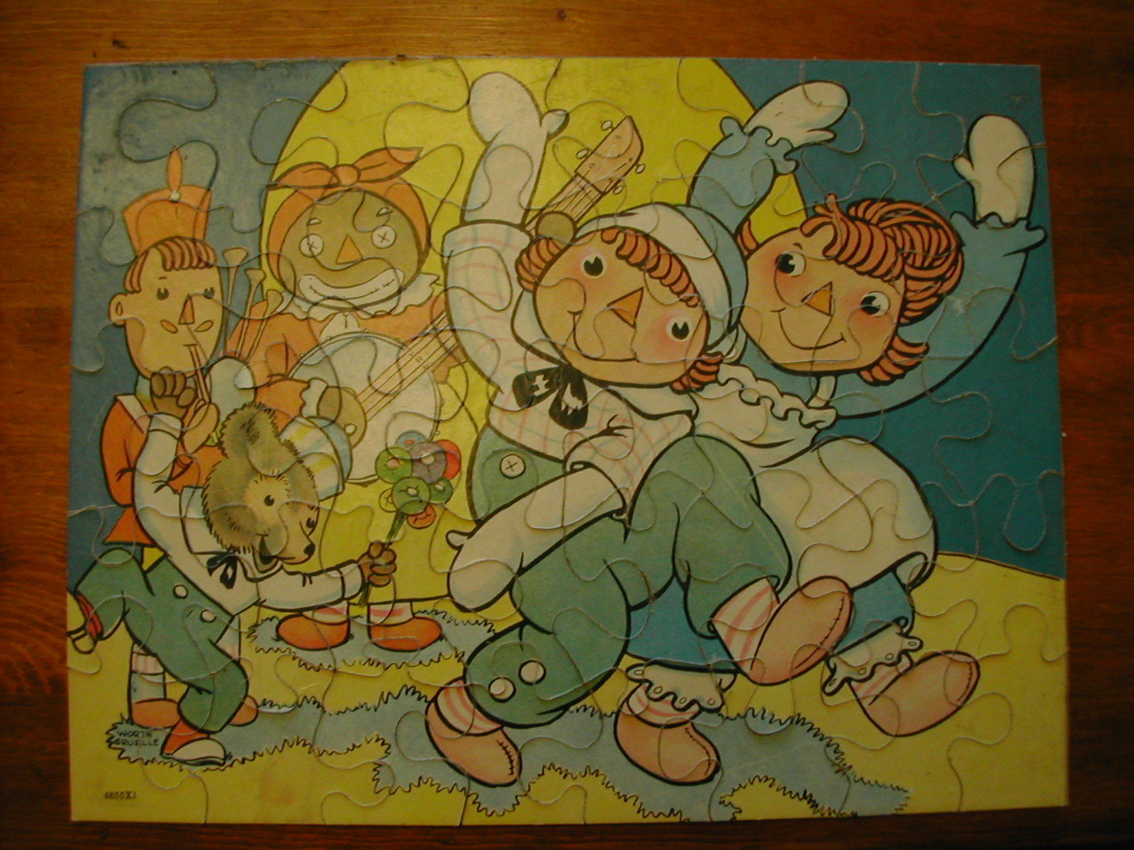Raggedy Ann and and and Andy 4 Piece Puzzles, copyright 1940 773089
