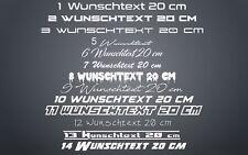 Aufkleber Sticker Wunschtext 20 cm Name Homepage Firma Beschriftung Text Neu Top