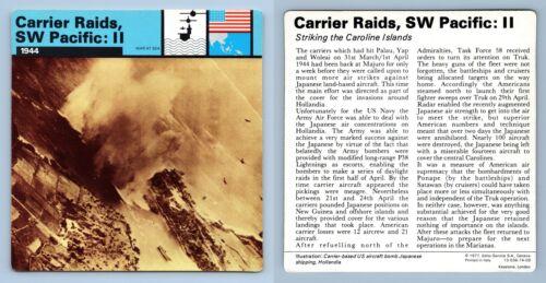 II 1944 War At Sea WW2 Edito-Service SA 1977 Card Carrier Raids SW Pacific
