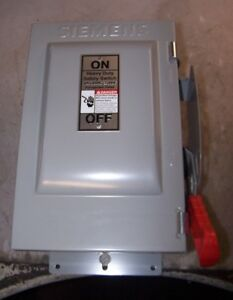 NEW SIEMENS 30 AMP NON-FUSED SAFETY SWITCH 600 VAC 30 HP 3 PHASE NEMA 3R HNF361J 94714184378