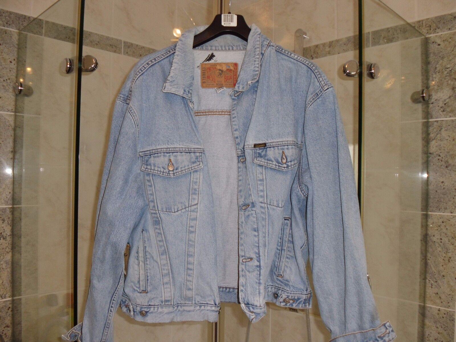 DIESEL   Blau Jeans Jacke  Größe XXL   Vintage Look