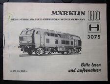 MÄRKLIN 3075 Bedienungsanleitung 68 375 AN 0268 ju für Diesel-Lokomotive V 160