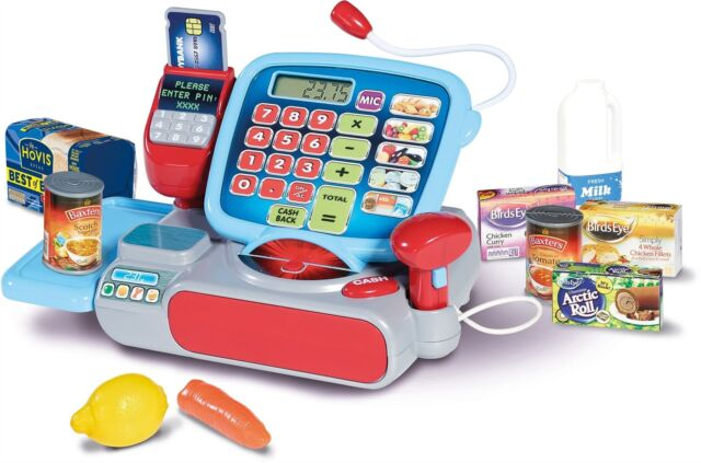 Casdon SUPERMARKET TILL Cash Register Shop Role Play Pretend Kids Toy/Gift BN