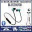 Auricolari-Bluetooth-Sport-Magnetici-Cuffie-Wireless-con-microfono-azzurri miniatura 1