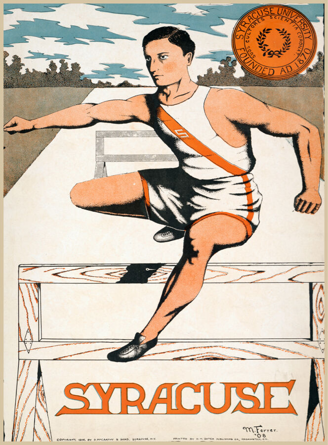 Choose Paper or Canvas POSTER.Syracuse Jump team.Sport.Home Room art print.q0381