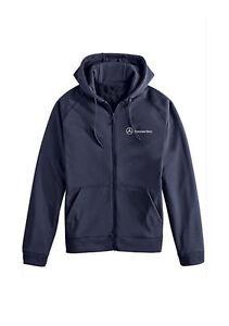 Mercedes benz blue long sleeve full zip fleece hoodie for Mercedes benz hoodie