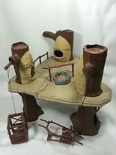 Vintage 1983 Star Wars Ewok Village Action Play Set Kenner Tree Trunk Platform