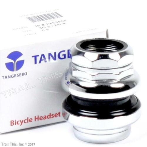 """Tange Seiki Passage 1/"""" 1-inch Threaded 26.4mm Chrome Traditional Bicycle Headset"""