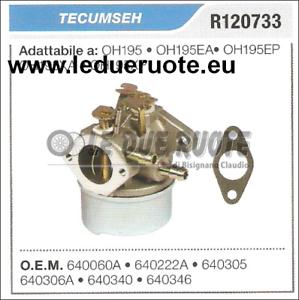 640305 Cocheburador a Tanque Tecumseh OH195 OH195EA OH195EP OH195XA OH195XP
