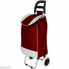 Folding Wheeled Festival Shopping Trolley Bag (Red)