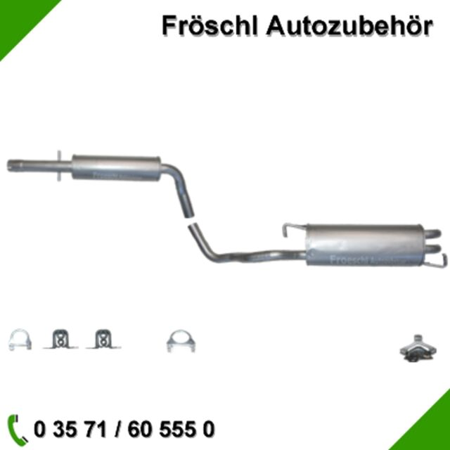 VW Golf 4 Beetle Leon Audi A3 8L 1.6 1.9 SDi Auspuff Auspuffanlage Anbausatz