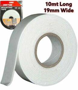 10M HEAVYDUTY DOUBLE SIDED FOAM STICKY TAPE 19mm WIDE ART CRAFTS MOUNTING PADDED