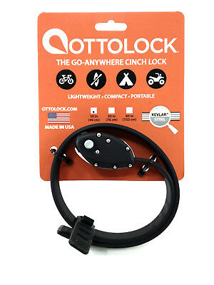 "New Ottolock Cinch Combination Lock 18/""  Steel Lightweight Stronger Cable green"