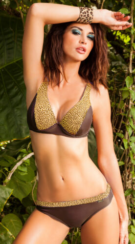 Elegante soft Bikini Self In Tg NUOVO 40 80d o 85c Leopardi serie mod.115p1
