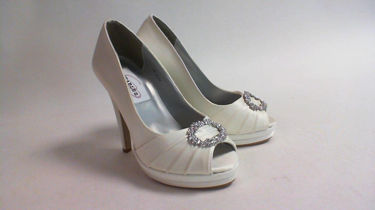 New Dyeables Wedding Shoes - Ivory Satin - Gianna - US 9B UK 7 #27R314