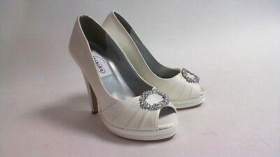 Nuevos Zapatos de boda Dyeables-Marfil Satinado-Gianna-US 7B Reino Unido 5 #27R313