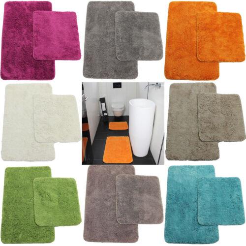 Badematte Set 50x80 45x50cm WC-Vorleger Badteppich Badvorleger Duschvorleger