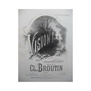 Details about BROUTIN All Vision Piano Singer 1881 partition sheet music  score