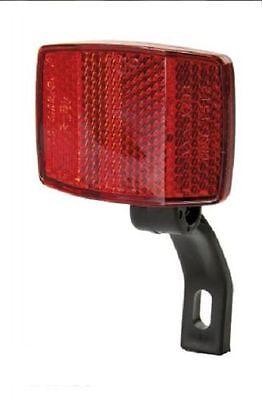 BICYCLE BIKE REAR FENDER REFLECTOR RED PLASTIC HANDLEBAR SEATPOST WARNING SUPPOR