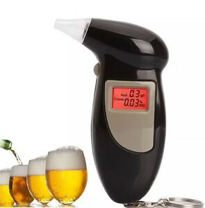 Digital Alcohol Breath Analyzer Breathalyser Tester Detector Black LCD Brand New 4670651168501