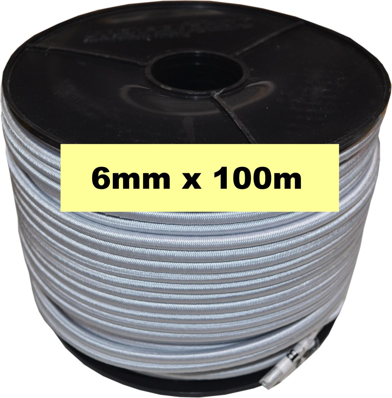Bungee Cord White Monoflex 6mm x 100 Metres Roll