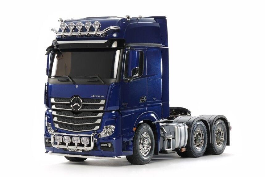Tamiya 1 14 Mercedes-Benz Actros 3363 6X4 Gigaspazio Pearl  blu edizione TAM56354  forma unica