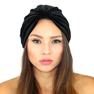 55d8e699052 Image is loading Kristin-Perry-Velvet-Turban-Headband-Knit-Hat