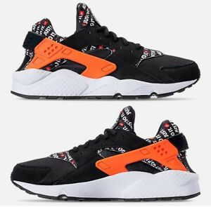 69af854bd334b NIKE AIR HUARACHE RUN JDI MEN s RUNNING BLACK - TOTAL ORANGE - COOL ...