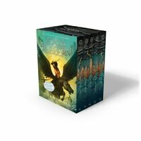Percy Jackson And The Olympians 5 Book Paperback Boxed Set Covers W/poster &