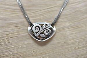 Brighton-Eve-Delight-Pendant-Triple-Chain-Necklace-Rhinestone-Silver-Tone-BinA
