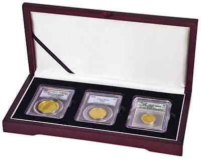 Guardhouse Wood Triple Graded Coin Slab Presentation Display Box NGC PCGS Wooden