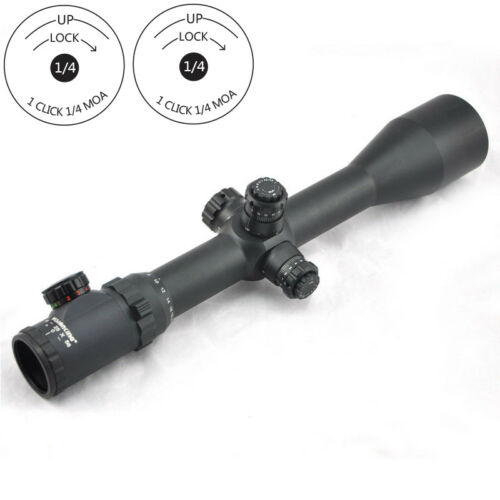 Visionking 6-25x56 Side Focus Mil dot 1000 Rifle Scope .50 Picatinny Mount Rings