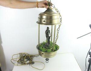 Vintage xh-5 gold diana goddess mineral oil rain lamp mid