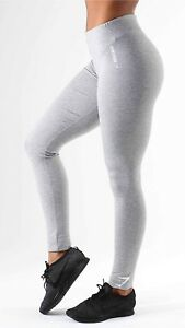 2a25b7c959f65 Image is loading Ladies-Womens-Grey-Gymshark-Workout-Plain-Stretch-Jersey-
