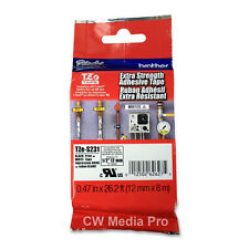 Brother TZS231 12mm extra strength ptouch tape PT1090 PT1090BK PT1280 PT1290